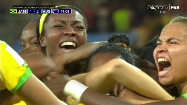 Reggae Girlz score their first goal of World Cup