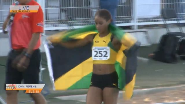 Briana Williams becomes 100m NACAC Champion (U-18 Girls)