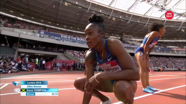 Elaine Thompson wins London Diamond League 200m