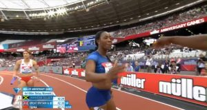 Jamaica wins women's 4x100m Relay at London Diamond League