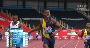 Watch: Akeem Bloomfield wins 400m in Birmingham Diamond League