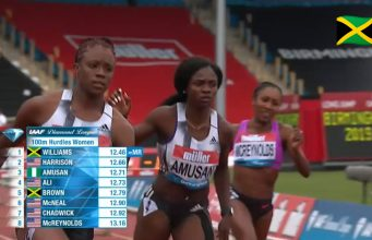 Danielle Williams Wins 100m Hurdles at Birmingham Diamond League
