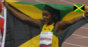 Elaine Thomspon wins Pan Am Games 100m GOLD