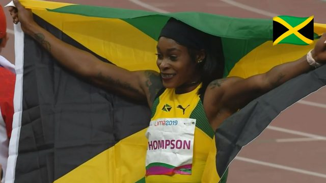 Elaine Thomspon wins Pan Am Games 100m GOLD