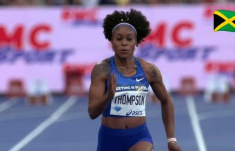 Elaine Thomspon wins 100m at Paris Diamond League