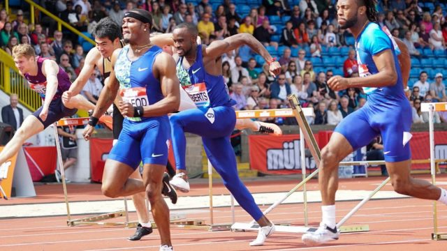 Omar McLeod wins 110m Hurdles at Birmingham Diamond League
