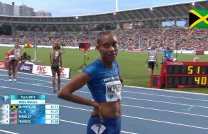 Stephenie Ann McPherson wins 400m at Paris Diamond League