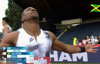 Yohan Blake wins 100m at Birmingham Diamond League