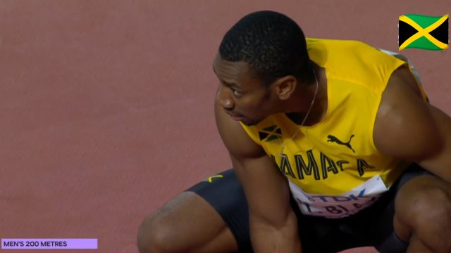 Watch: Yohan Blake tried but failed to qualify for 200m final at World Champs