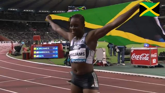 Danielle Williams Wins 100m Hurdles at Brussels Diamond League