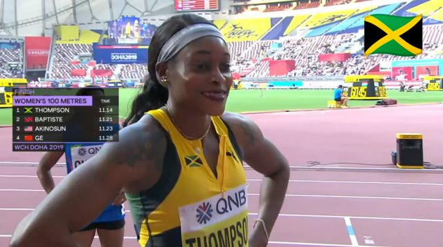 Watch: Elaine Thompson Wins 100m Heat, Advances To World Champs Semifinal