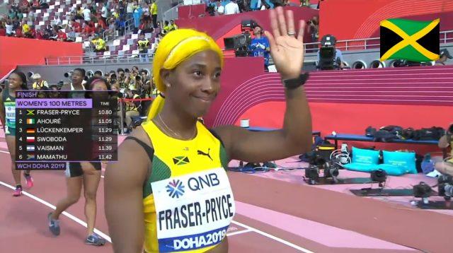Watch: Shelly-Ann Fraser-Pryce wins 100m heat, advances to World Champs semifinal