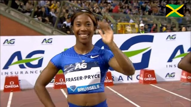 Shelly-Ann Fraser-Pryce finishes 2nd in Brussels Diamond League 100m