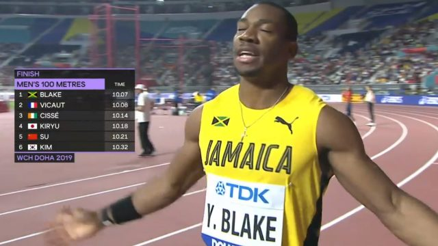 Yohan Blake wins 100m Heat, advances to semifinal at World Championships