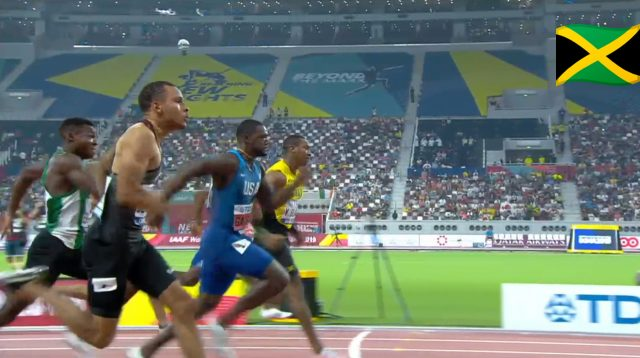Watch: Yohan Blake beats Justin Gatlin to qualify for 100m Final