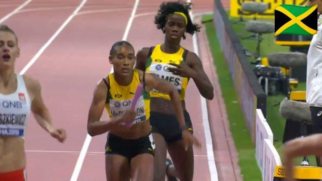 Watch: Team Jamaica Wins Women's 4x400m Relay Bronze At World Champs