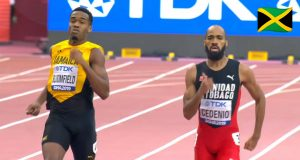Watch: Akeem Bloomfield qualifies for 400m semi-finals at World Champs