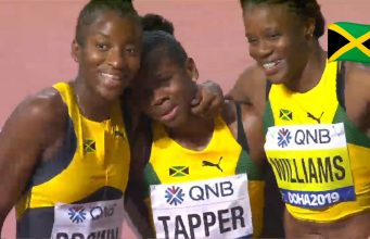 Watch: Danielle Williams wins 100m hurdles Bronze at World Championship