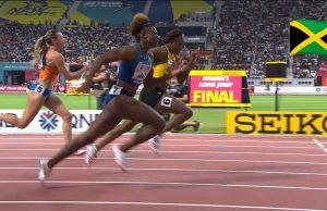 Watch: Danielle Williams wins 100m Hurdles semi, advances to World Champs Final