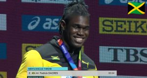 Watch: Fedrick Dacres wins silver, earns Jamaica's first Discus Throw medal in World Championships history