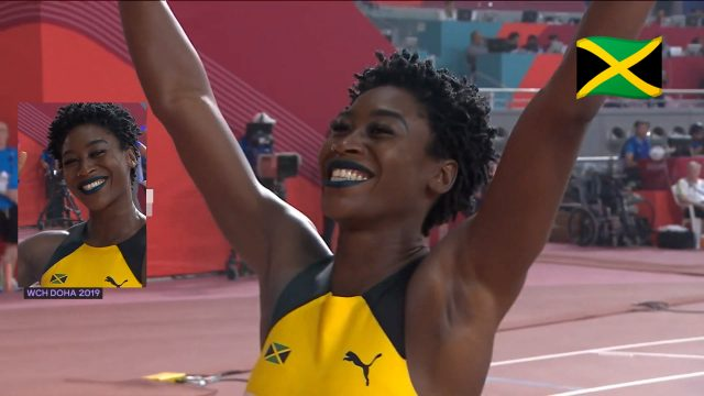 Watch: Rushell Clayton Wins 400m Hurdles Bronze for Jamaica At World Champs