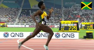 Watch: Rushell Clayton wins 400m Hurdles Heat at World Champs