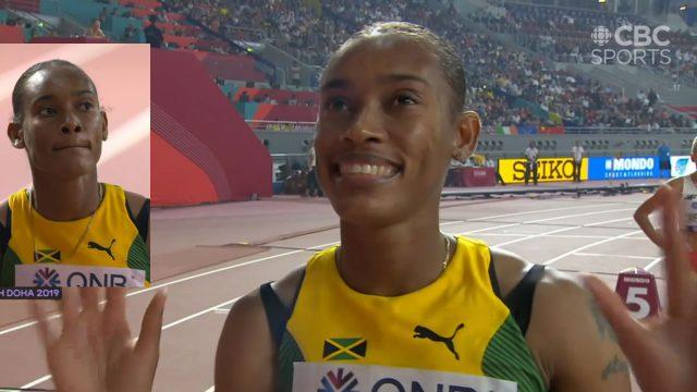 Watch: Stephenie Ann McPherson wins 400m Hurdles Semi-final