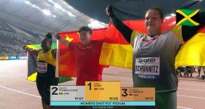 Daniell Thomas-Dodd wins Shot Put silver medal at the 2019 World Championships