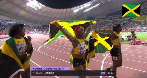 Watch: Team Jamaica wins Women's 4x100m relay GOLD
