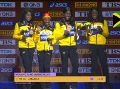 Watch: Team Jamaica's Women 4x100m Relay team crowned World Champions