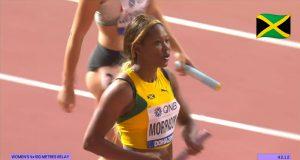 Watch: Team Jamaica wins Women's 4x100m Relay Heat at World Champs