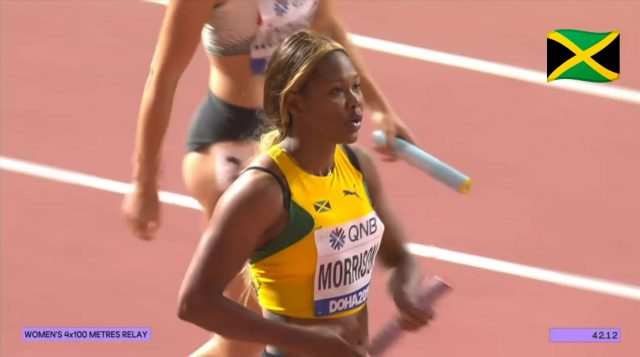 Watch: Team Jamaica wins Women's 4x100m Relay Heat at World Champs