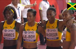 Watch: Team Jamaica wins Women's 4x400m relay in World leading time at World Champs