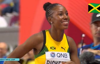 Watch: Shanieka Ricketts wins Women's Triple Jump Silver Medal at World Champs