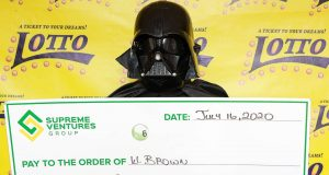 Jamaican lottery winner claimed his $95m prize dressed as Darth Vader