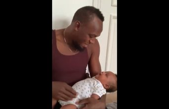 Watch: Usain Bolt shares adorable moment with his daughter Olympia Lightning Bolt