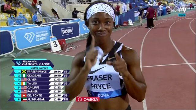 Watch: Shelly-Ann Fraser-Pryce Wins 100m in 10.84 — Doha Diamond League