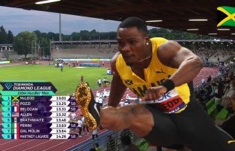 Omar McLeod wins Men's 110m Hurdles in 13.01 seconds today, setting a new world-leading time!