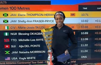 Watch: Elaine Thompson-Herah beats Shelly-Ann Fraser-Pryce at Hungarian Athletics Grand Prix