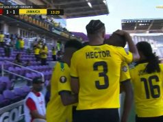 Jamaica scores equalizer 1-1 against Guadeloupe in Gold Cup