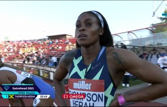 Elaine Thompson-Herah wins 200m at Müller British Grand Prix